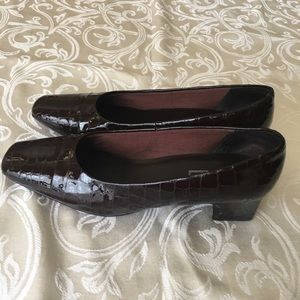Nordstrom Patent Leather Croc Embossed Pumps